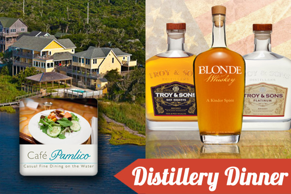 Troy and Sons 5-Course Carolina Whiskey Dinner at Cafe Pamlico
