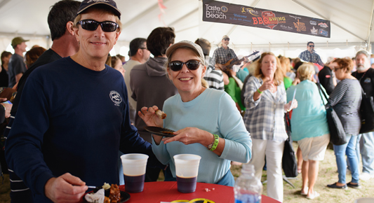 The Outer Banks BBQ & Wing Showdown sponsored by Joe Lamb, Jr. Realty & the Outer Banks Visitors Bureau