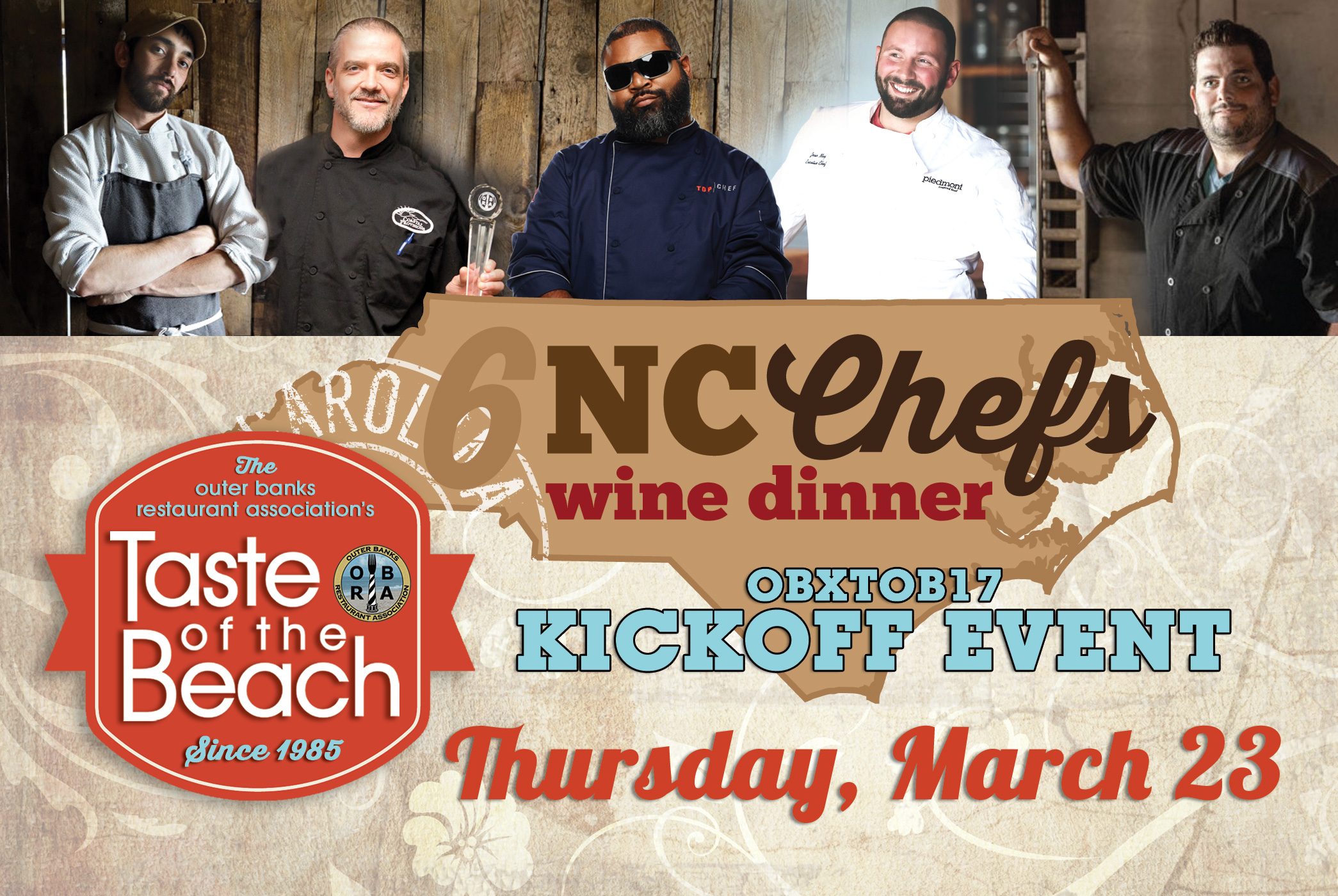NC Chef's Wine Dinner and TOB Kickoff Event